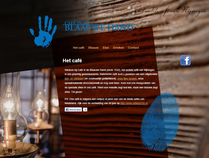 Café Indeblaauwehand.nl