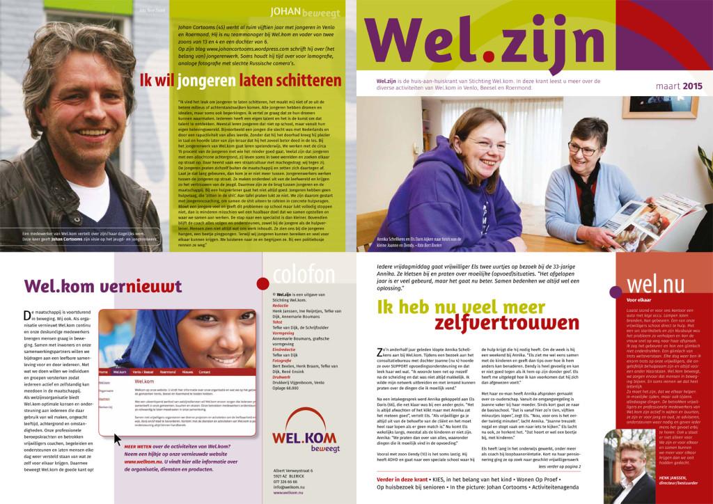 HAH-krant welzijnsorganisatie Wel.kom, oplage: 68.000